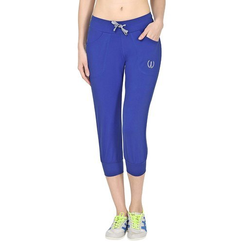 Blue Regular Fit Sports Track Pants Material: Cotton
