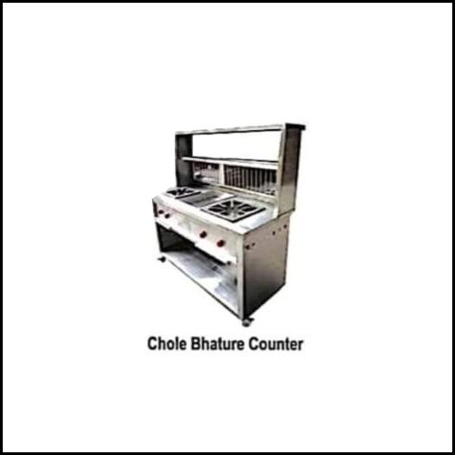 Silver Chole Bhature Steel Counter
