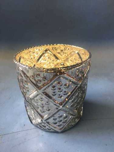 Designer Mercury Glass Votive
