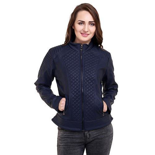 Girls Full Sleeve Leather Jacket