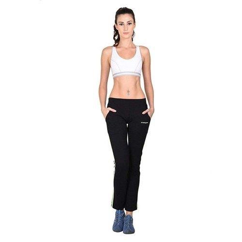 Ladies Black Cotton Track Pants