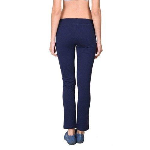 Ladies Cotton Spandex Jersey Navy Track Pants
