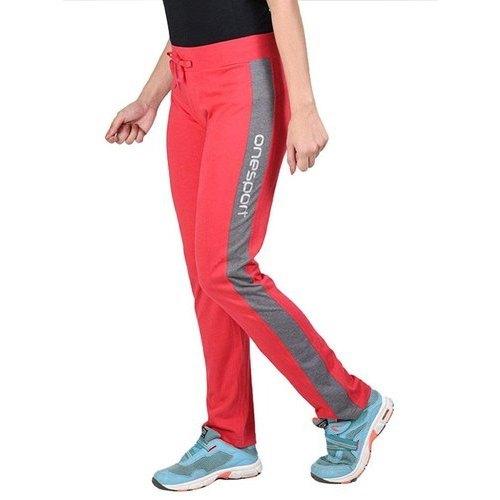 Ladies Designer Jersey Red Track Pants