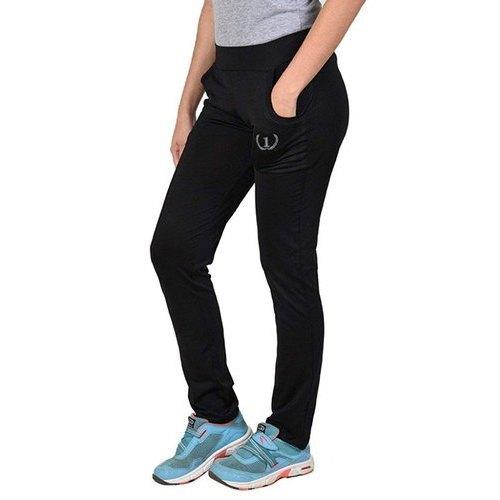 Ladies Jersey Black Track Pants