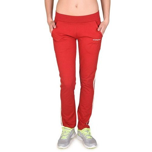 Ladies Jersey Red Track Pants