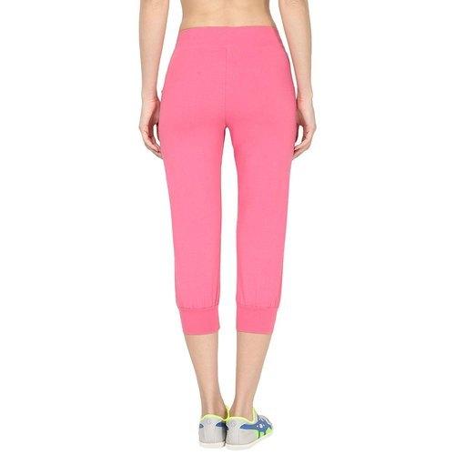 Ladies Pink Regular Fit Sports Track Pants