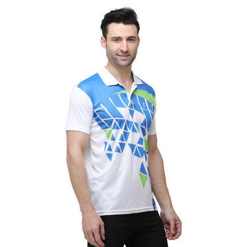 Mens Half Sleeves Printed Cricket T Shirts