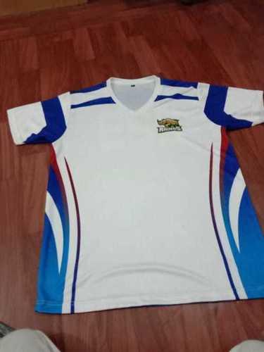 Multicolour V Neck Sport T Shirt