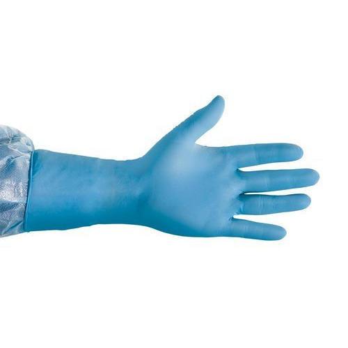 Nylon Blue Nitrile Surgical Glove