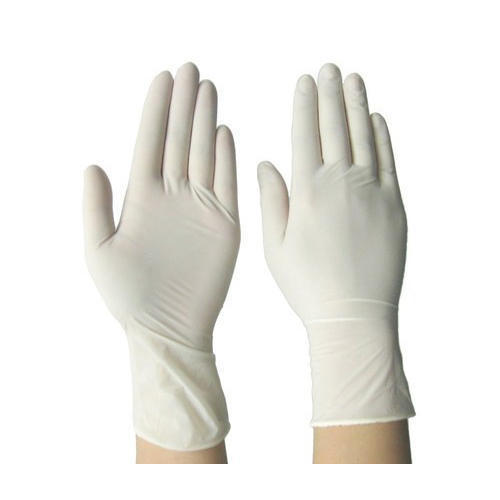 Off White Latex Examination Gloves, Packaging Type : Box