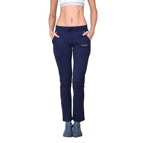 Women Cotton Jersey Navy Track Pants