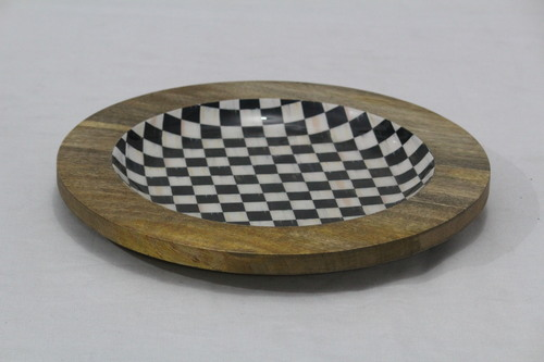 Wooden Enamel Charger Plate