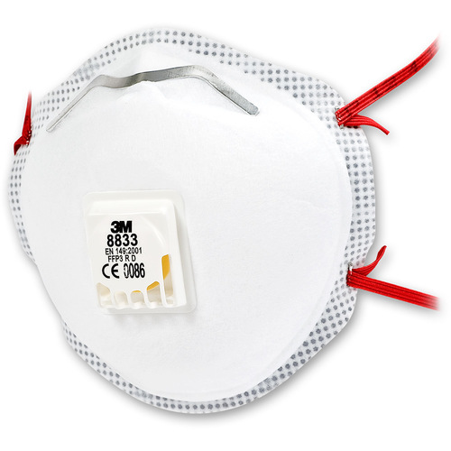 White 3M 8833 N95N Dust Mask