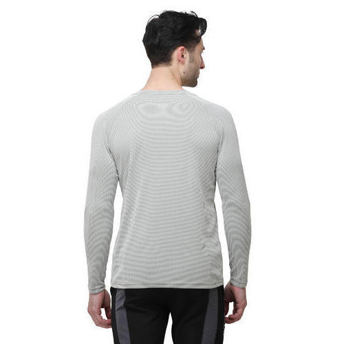 Mens Gray Full Sleeve T-Shirt