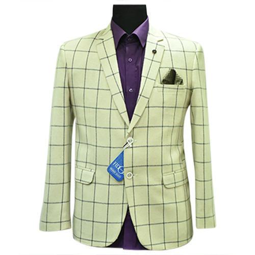 Cream Mens Tweed Check Blazer