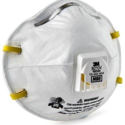 3M N95 Mask With Exhalation Vent Valve Size: Free Size