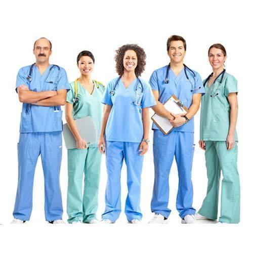 Green Cotton Hospital Staff Uniform