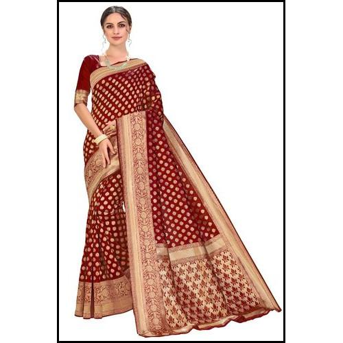 Maroon Color Glory Designer Kanchipuram Silk Ladies Saree