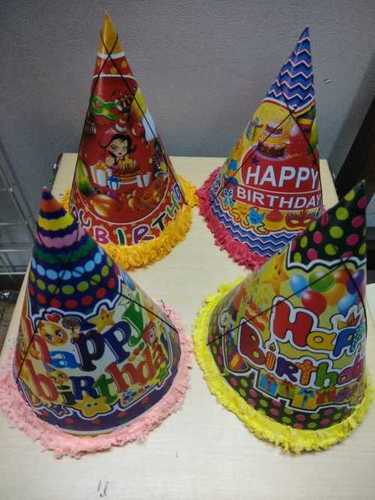 Multiple Size Printed Birthday Caps