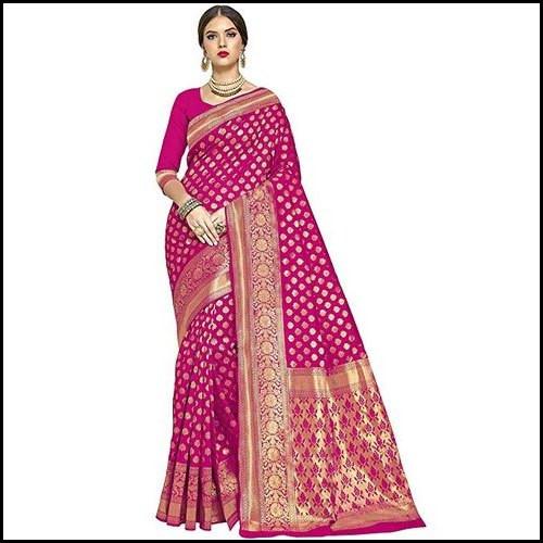 Pink Glory Designer Kanchipuram Silk Ladies Saree