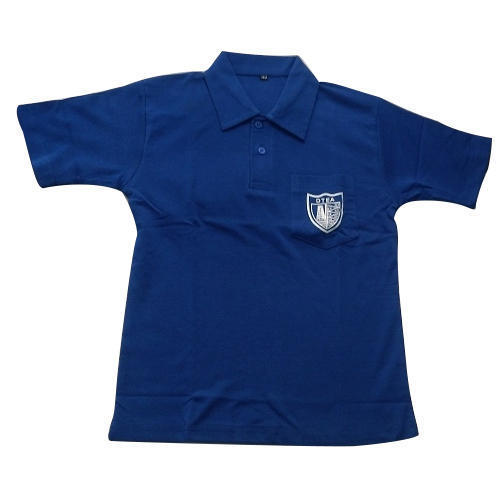 School Blue Plain T-Shirt