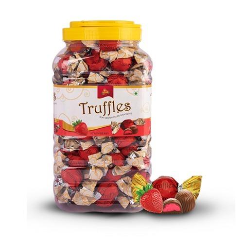 Strawberry Flavoured Kanchoco Chocolate Truffles Jar