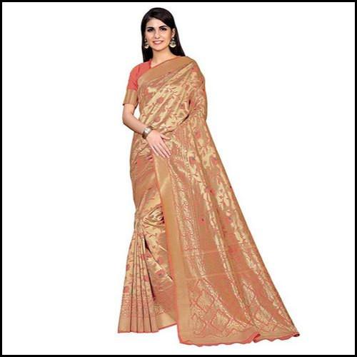 Wedding Wear Designer Kanchipuram Silk Ladies Saree with Blouse Piece