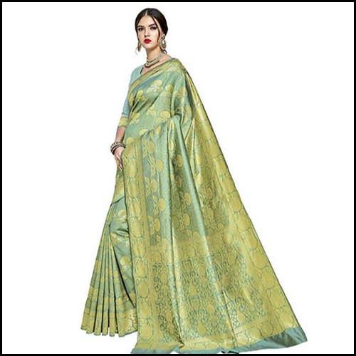 Woven Formal Wear Ladies Banarasi Silk Saree
