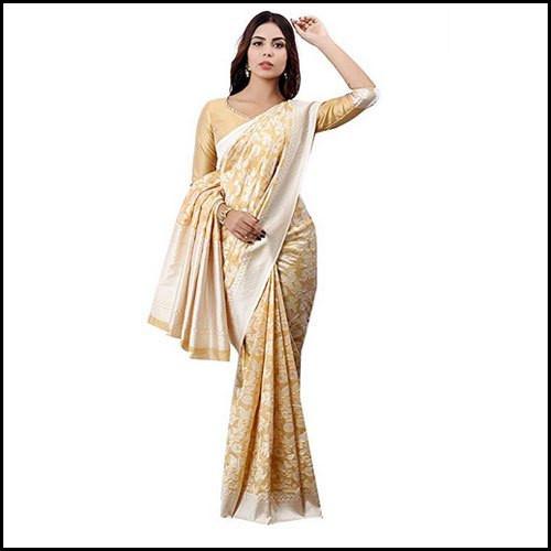 Zari Weaving Jacquard Work Wedding Wear Banarasi Saree Material: Silk