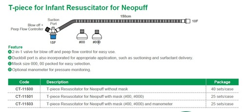 T-Piece Resuscitator For Neopuff Without Mask