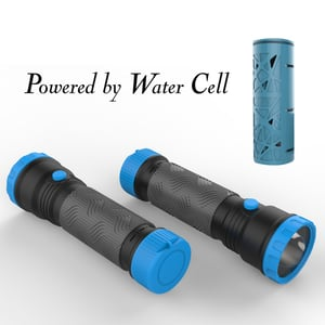 Water Cell Powered Flashlight