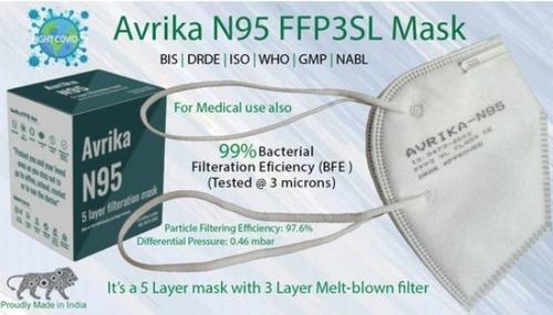 99% Bacterial Filtration Efficiency N95 Face Mask
