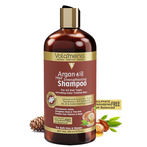 Volamena Argan Oil Hair Strenghtening Shampoo For Men And Women 300ml