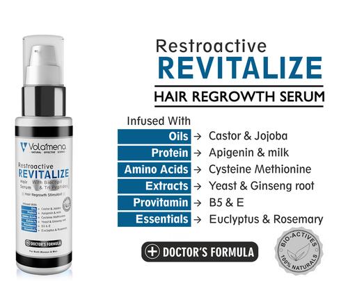Volamena Resrtoactive Hair Revitalize Serum For Men And Women 50ml