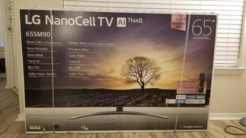 Black LG 65SM8100AUA 65 Inches LED NanoCell TV