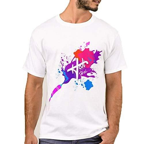 White Colored Holi T Shirt