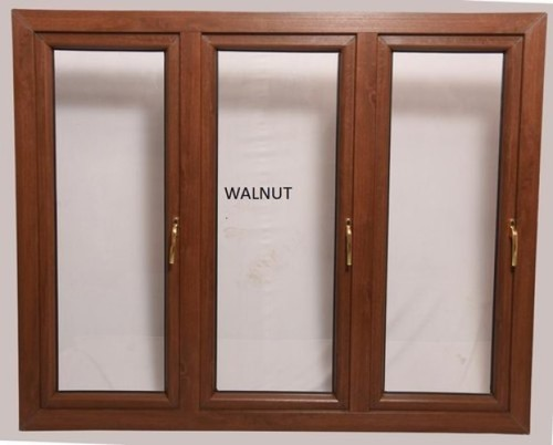 Wooden Color Upvc Sliding Window