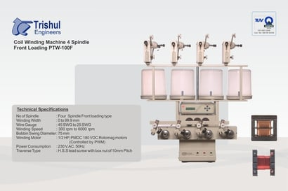 4 Spindle Linear Coil Winding Machine Certifications: Iso-9000:2015