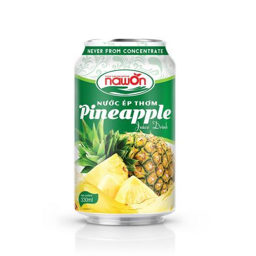NAWON Real Fresh Pineapple Fruit Juice Drink 330 ml
