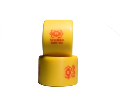 Yellow Atom Stroker Skate Wheels