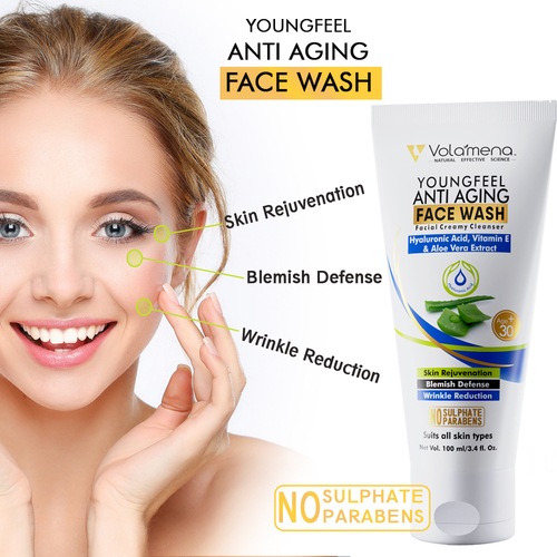Youngfeel Anti Aging Face Wash With Hyaluronic Acid And Aloevera 100ml