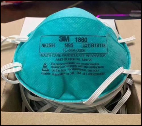 3M 1860 Particulate Respirator Mask Size: Standard