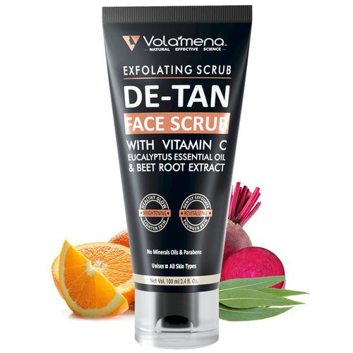 Detan Face Scrub For Lighten Dark Skin 100ml