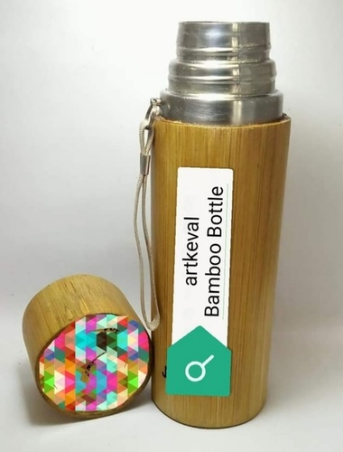 Finely Finished Bamboo Water Bottle
