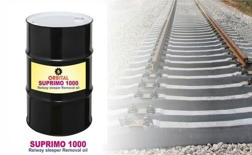 Brownish Red Railway Sleeper Remove Oil (Suprimo 1000)