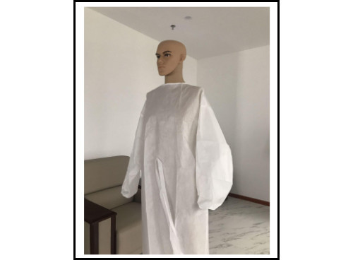 White Traditional Style PP+PE Isolation Gown