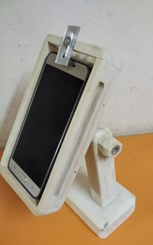 White Colored Wooden Mobile Stand