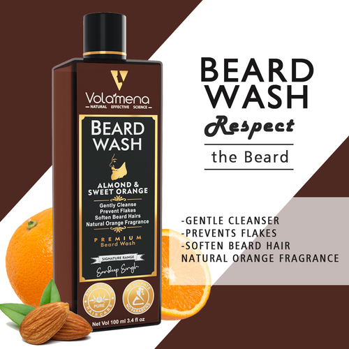 Volamena Almond And Orange Mens Beard Wash