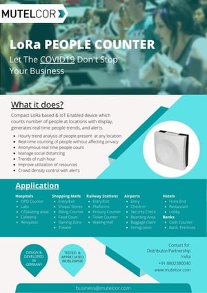 White Colored Digital People Counter