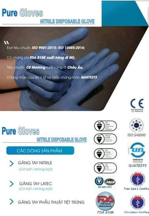 Pure Gloves Nitrile Disposable